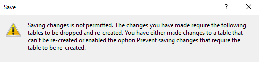 Prevent Saving Changes that requires